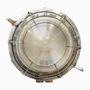 Lámpara de pared para exterior industrial circular, años 50