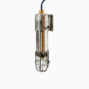 Kleine Anti-Deflagration Wandlampe mit Drahtgitter, 1950er