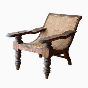 Antiker asiatischer Sessel mit Beinauflagen, 1900er