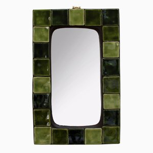 French Mirror with Ceramic Tiles, 1970s