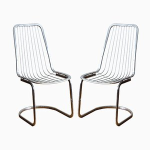 Chaises en Chrome, 1970s, Set de 2