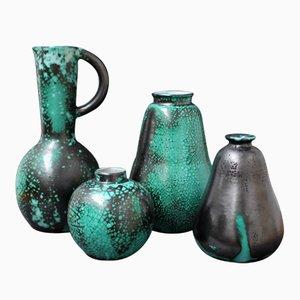 Vasi in ceramica di Céramique d'art de Bordeaux per Primavera, anni '30, set di 4