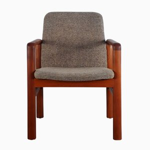 Danish Solid Teak Easy Chair, 1960s