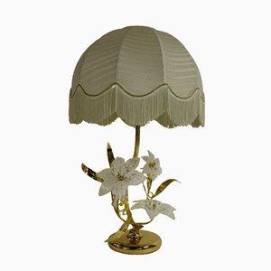 Lámpara de mesa en forma de flor de cristal de Murano, años 70