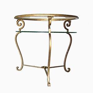 Tavolino in metallo dorato, Italia, anni '50