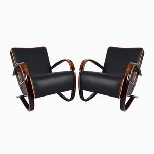 Mid-Century H-269 Armchairs by Jindřich Halabala for UP Zavody, Set of 2