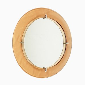 Circular Wall Mirror from Cristal Art, 1960s