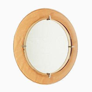Espejo de pared circular de Cristal Art, años 60