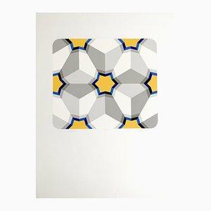 Serigrafía Hexagon II de Marko Spalatin, 1984
