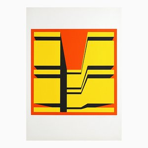 Silkscreen by Guy Baekelmans, 1970s