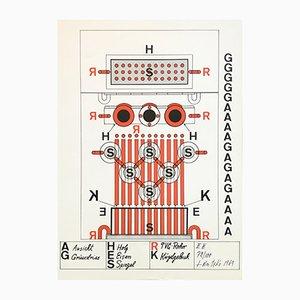 Serigrafia di Guido Jendrytzko, 1969