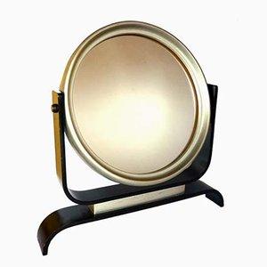 Espejo italiano Art Déco de madera curvada