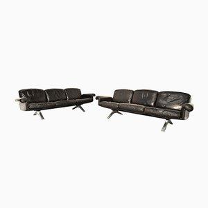 Schweizer DS 31 3-Sitzer Sofas von de Sede, 1970er, 2er Set