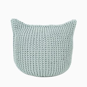 Knitted Cat Pouf from SanFates