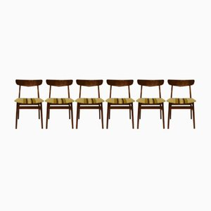 Chaises de Salon en Teck, Danemark, 1960s, Set de 6