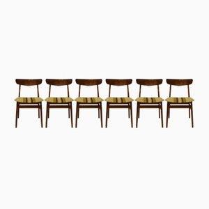 Danish Teak Dining Chairs, 1960s, Set of 6