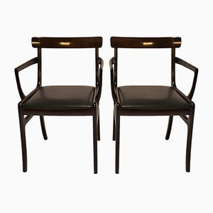 Rungstedlund Armchairs by Ole Wanscher for Poul Jeppesens, 1960s, Set of 2
