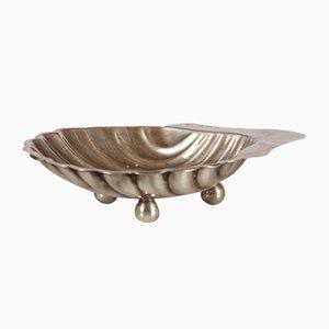 Rundgezackter antiker Silberteller