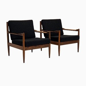 Rosewood Easy Chairs, 1960s, Set of 2