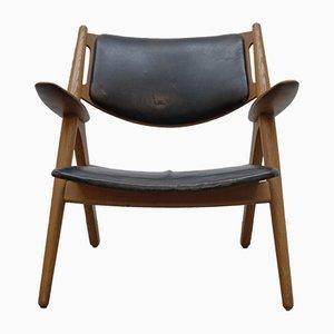 Mid-Century CH28 Sawbuck Armchair by Hans Wegner for Carl Hansen & Søn