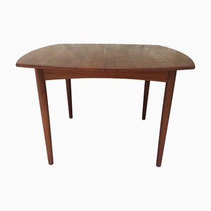 Extendable Scandinavian Teak Dining Table with Hidden Butterfly Leaf, 1960s