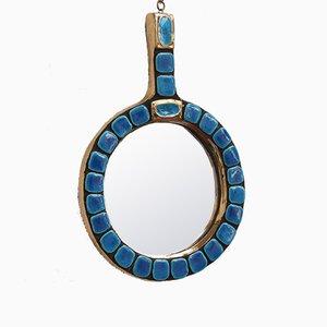Keramik Vintage Spiegel von François Lembo