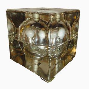 Italian Cubosfera Table Lamp par Alessandro Mendini pour Fidenza Vetraria, Italie, 1968