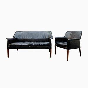 Sofá Mid-Century y sillón de Ejnar Larsen & Aksel Bender