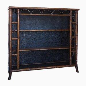 Viktorianisches Bambus Bücherregal