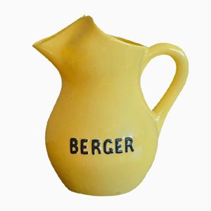 Gelber Wasserkrug von Saint Uze,1950er