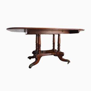 Tavolo in mogano con ripiano a ribalta, inizio XIX secolo