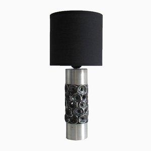 Brutalistische Vintage Tischlampe von W. Luyckx für Aluclair