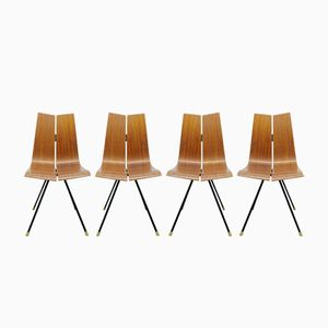 Dining Chairs by Hans Bellmann for Horgenglarus, Set of 4, 1956