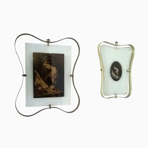 Vintage Framed Religious Icons from Fontana Arte, Set of 2