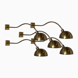 Vintage Messing Wandlampen, 5er Set