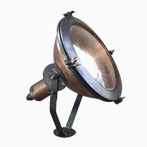 Industrielle Kupfer Lampe von Holophane