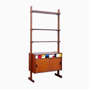 Freistehendes Vintage Teak Regalsystem