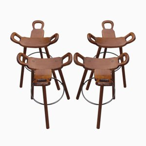 Spanish Marbella Bar Chairs, 1960s, Set of 4