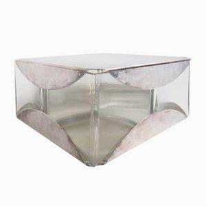 Italienische Apero Schachtel aus Silber & Glas von Sabattini, 1960er
