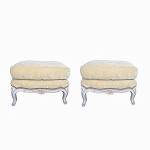 Mid-Century French Stools, Set of 2