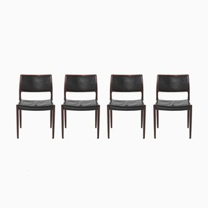 Vintage Model 80 Dining Chairs by Niels Otto Møller, Set of 4