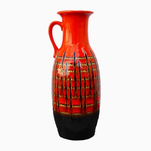 West German Fat Lava Vase from Jasba, 1960s