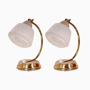 Vintage Golden Lamps, 1950s, Set of 2