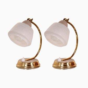 Vintage Tischlampen in Gold, 1950er, 2er Set