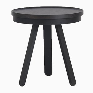 Small Black Batea Tray Table by Daniel García Sánchez for WOODENDOT