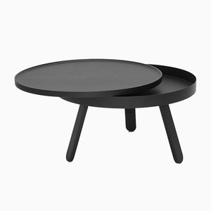 Medium Black Batea Coffee Table with Storage by Daniel García Sánchez for WOODENDOT