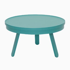 Medium Green Batea Coffee Table with Storage by Daniel García Sánchez for WOODENDOT