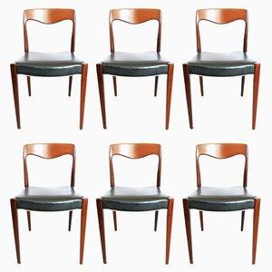 Skandinavische Teak Stühle, 1960er, 6er Set
