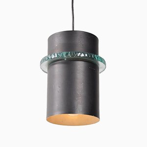 Lámpara colgante holandesa de metal de Hiemstra Evolux, años 60