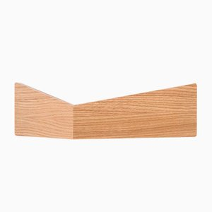 Small Oak Pelican Shelf with Hidden Hooks by Daniel García Sánchez for WOODENDOT